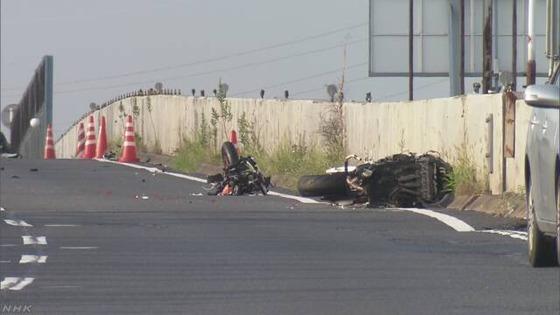 奈良バイク8人死傷事故が色々酷い…大型2輪免許なし、2輪車3台に8人、メットは2つだけ