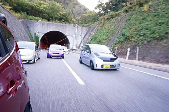 VIP車の走行会