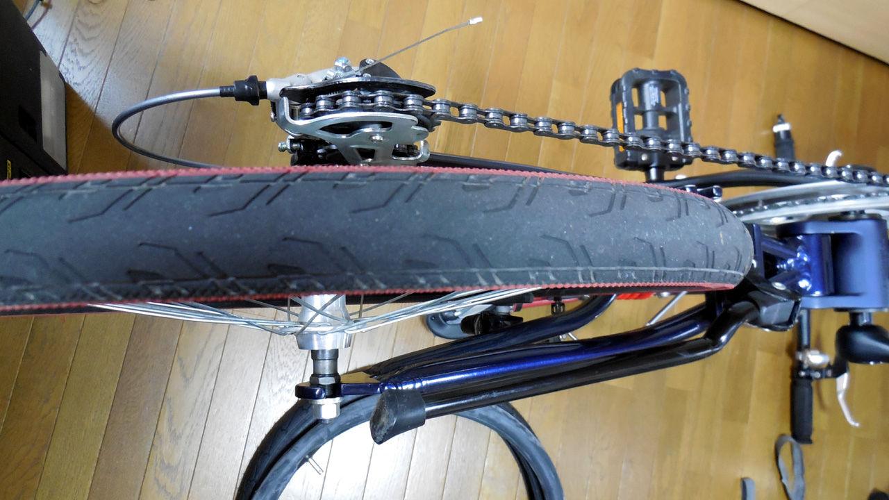 自転車の 自転車のタイヤ交換 自分で : ... のタイヤ交換せなダメでした