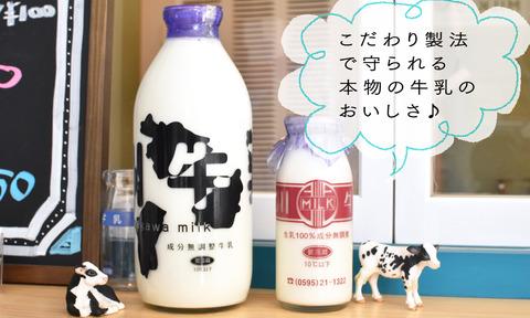 本物の牛乳