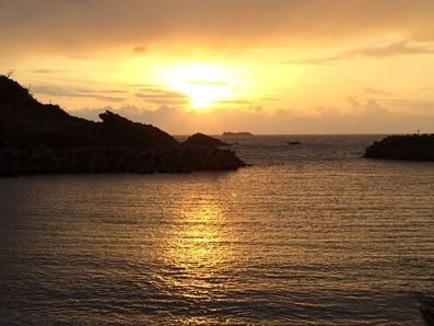出雲・日御碕からの夕陽