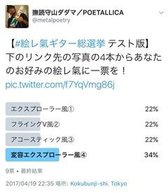絵レ氣ギター総選挙テスト版 結果