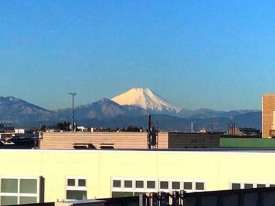 富士山@国立駅 2018.2.6