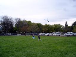 息子の凧あげ
