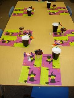 テーブルのセッティング