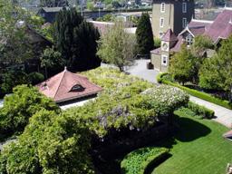上からみた庭園