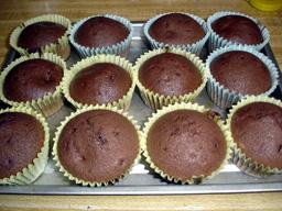 初手作りカップケーキ♪