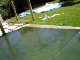 プールのお片づけ