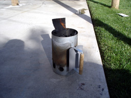火をつけます。
