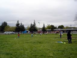 クラスで凧揚げ
