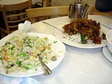 Mongolian Beef and fried rice