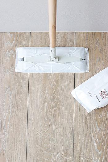 我が家のシンプル掃除 MUJI フローリングシートの活用方法