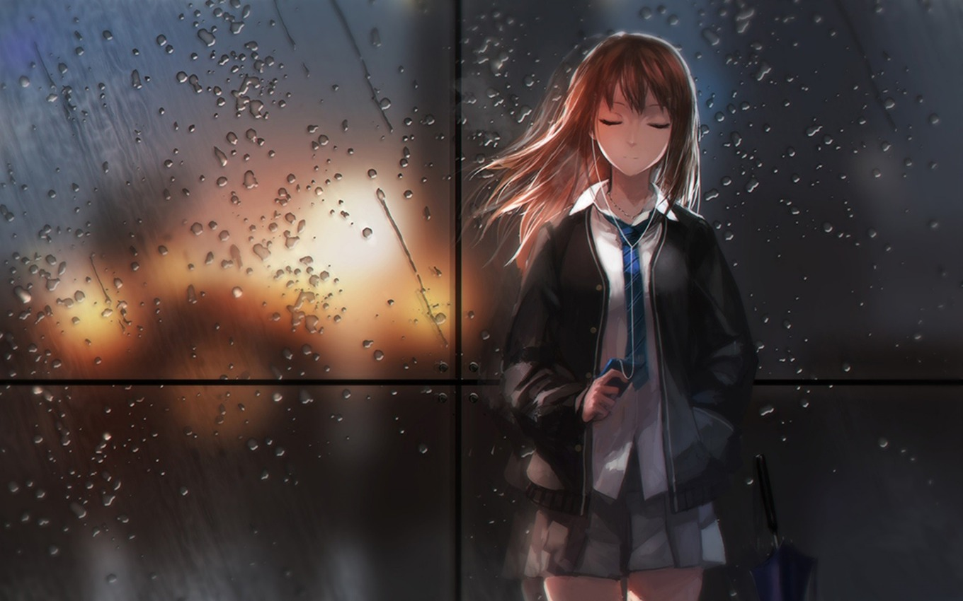 girl_anime_rain_glass_light_schoolgirl_102497_3840x2400