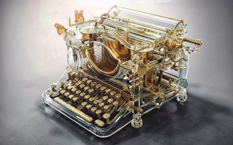 アレクサンドルKuskovによって美しく細工されたタイプライター