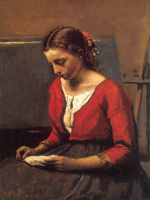 Camille-Corot--A-Girl-Reading
