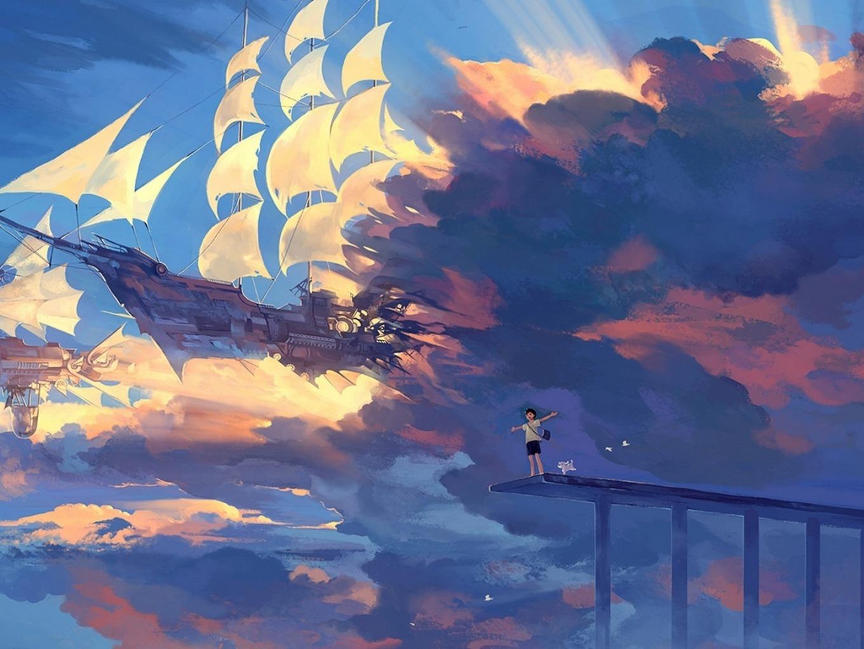 hanyijie_sky_scenery_ship_anime_art_104162_1600x1200