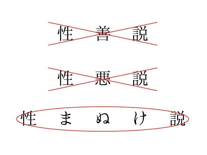 性マヌケ説