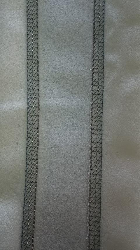 縫い見本(左側:表、右側:裏)①