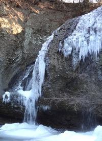 1月28日−月待の滝(1)