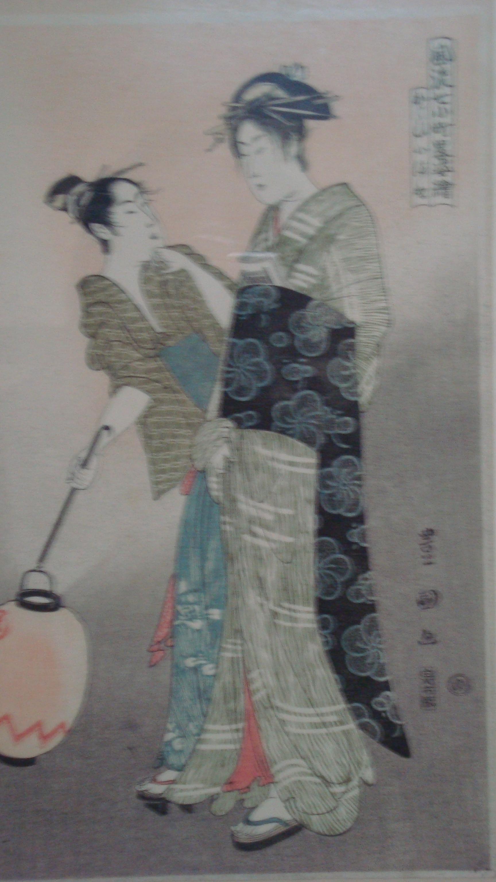 江戸中期の浮世絵師 人生って楽しいな