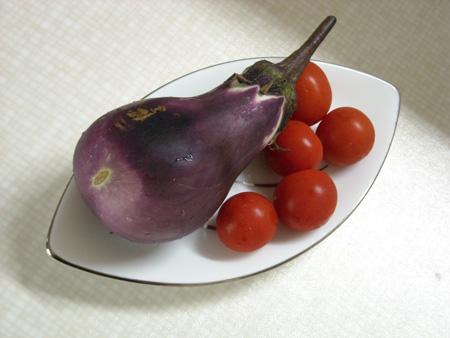 ナス、プチトマト