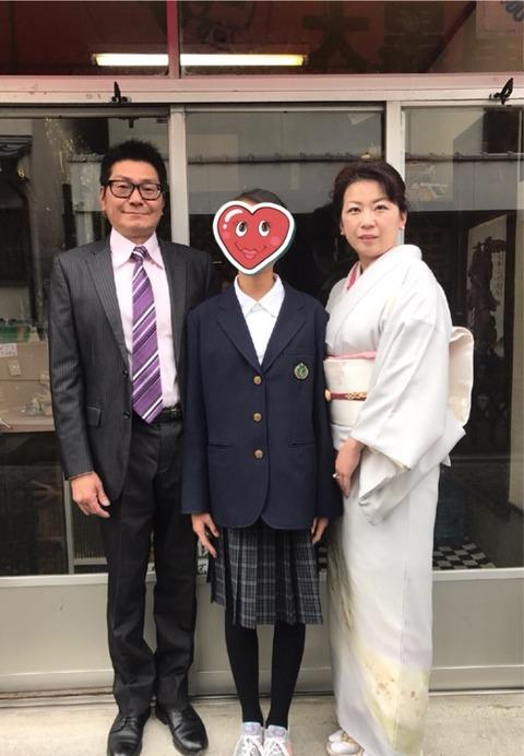 入学式に桜が間に合ってよかった♪