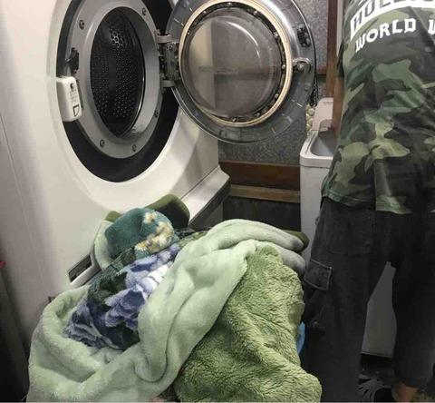 梅雨の晴れ間に毛布やお布団の大物洗い!