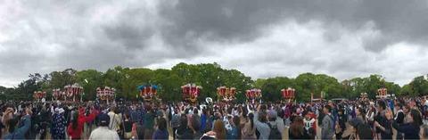 堺のふとん太鼓が集結!『天皇陛下御即位記念祭典』@大仙公園