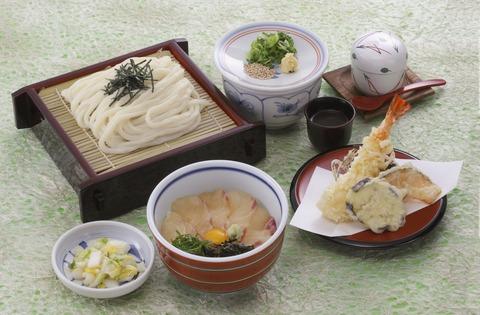 漬け丼ざるうどん定食23.05.30