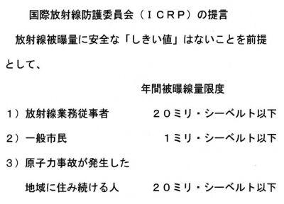 ICRP提言