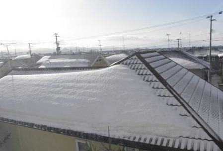 雪の落ちない屋根