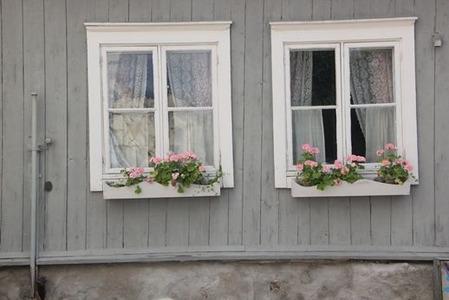 北欧住宅の窓際9