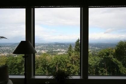 アメリカ住宅:寝室からの眺め