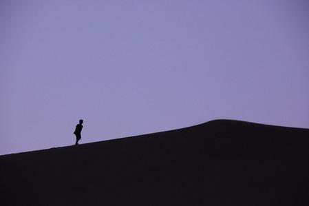 砂漠の日没 (2)
