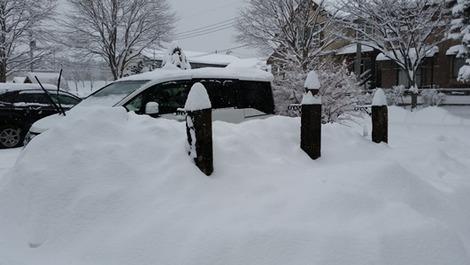 今日の岩手の雪