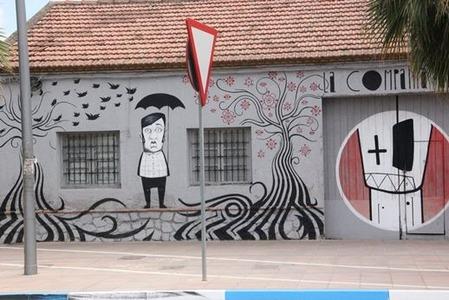ユーモアな壁
