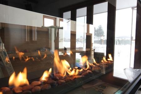 ガス暖炉の灯り