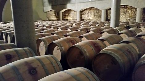 スペインワイナリー樽