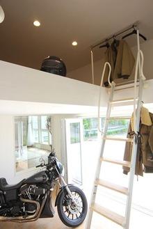 ビルトインバイクガレージの家(1)