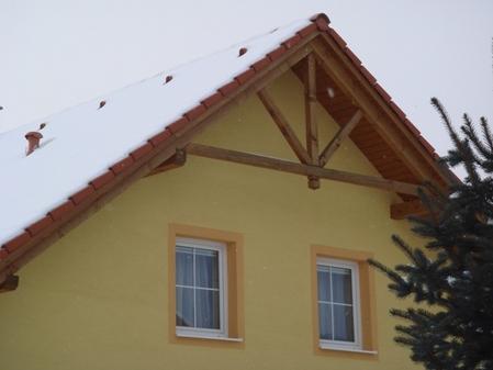 北欧住宅の妻壁デザイン�