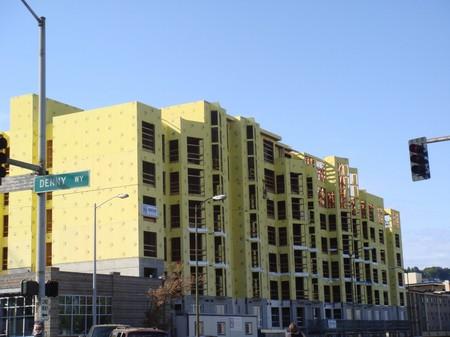 アメリカにおける木造の中高層住宅