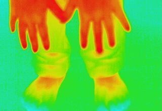 手と足のサーモ画像