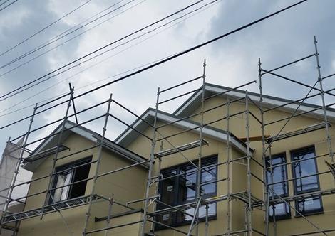 住宅の工事現場:盛岡