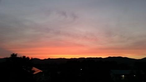 岩手の夕焼け