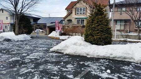 岩手の雪散らし