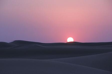 砂漠の日没 (1)