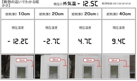 岩手の断熱住宅実験