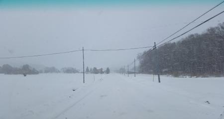 岩手の雪道