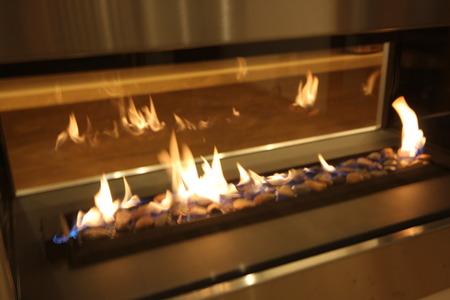 ガス暖炉のある平屋の家(2)