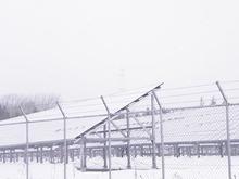 太陽光と雪 (2)